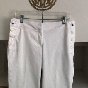 LOFT Pants - LOFT NWT White Cotton Sailer Pants 4P